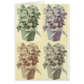 Four Topiaries Card
