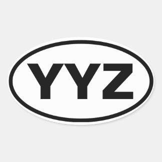 """FOUR Toronto """"YYZ"""" Oval Sticker"""