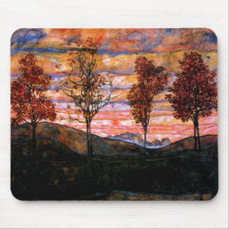 Four Trees by Egon Schiele Mouse Pad