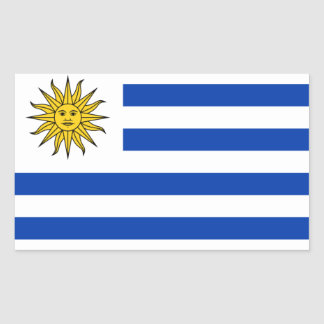 FOUR Uruguay National Flag Rectangle Stickers