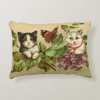 Four Victorian Cats Accent Pillow