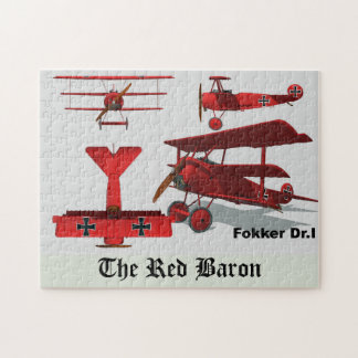 "Four Views of The Fokker ""Red Baron"" Puzzles"
