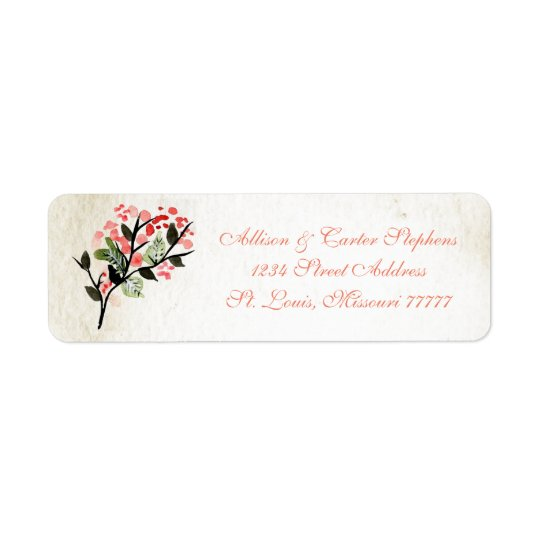 Four Watercolor Bouquets - Address Labels