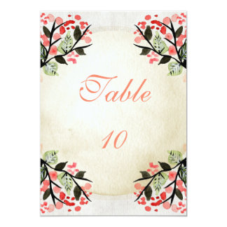 Four Watercolor Bouquets - Table Number