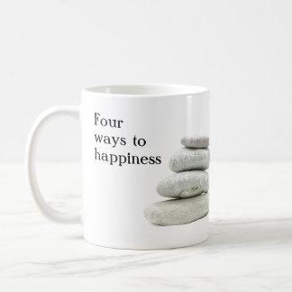 Four ways to happiness coffee mug