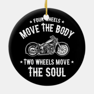 Four Wheels 1016 Ceramic Ornament