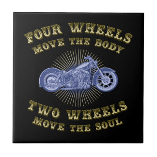 Four Wheels III Ceramic Tile
