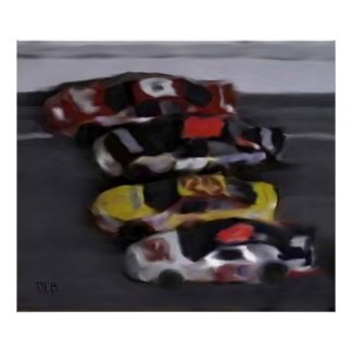 Four Wide NASCAR Prints
