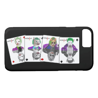 Four Wild Card Clown Cats Playing Cards iPhone 7 Case