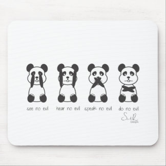 four wise pandas copy mouse pad