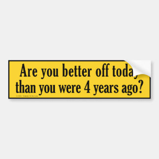 four-years-ago bumper sticker