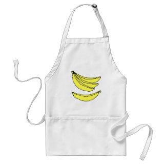 Four Yellow Bananas. Aprons