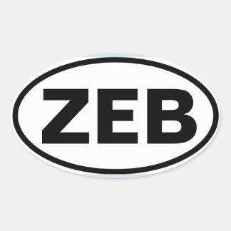 """FOUR Zebulon """"ZEB"""" Oval Sticker"""