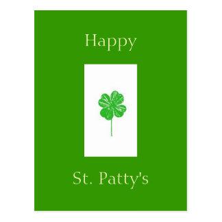 fourleafclover, Happy , St. Patty's Postcard