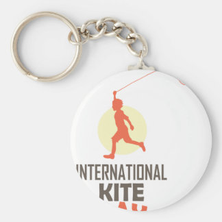 Fourteenth January - International Kite Day Basic Round Button Key Ring