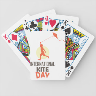 Fourteenth January - International Kite Day Bicycle Playing Cards