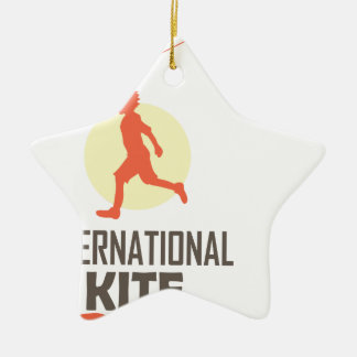 Fourteenth January - International Kite Day Ceramic Ornament