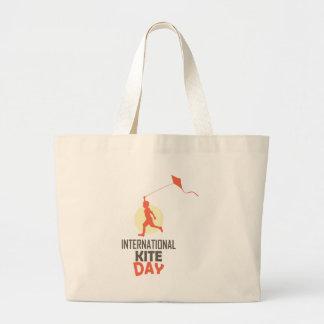 Fourteenth January - International Kite Day Large Tote Bag
