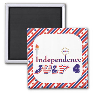 Fourth 4th Of July stars torch USA Independence Magnet