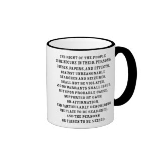 Fourth Amendent Text Mugs