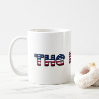 Fourth American Flag Typography Stars and Stripes Coffee Mug