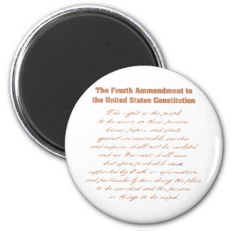Fourth Ammendment to the Constitution Refrigerator Magnet