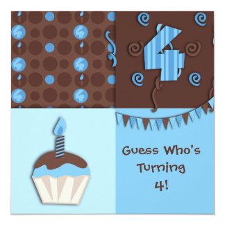 Fourth Birthday : Boy : Invitation