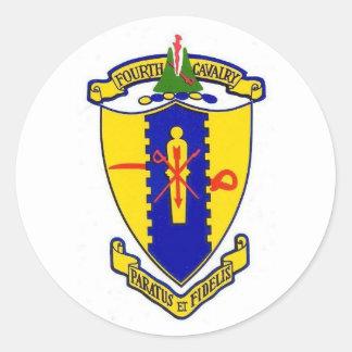 Fourth Cavalry Classic Round Sticker