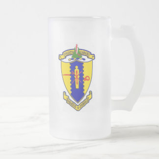 Fourth Cavalry crest Frosted Glass Beer Mug