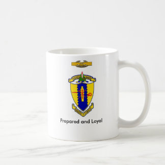 Fourth Cavalry crest  ,motto and CCB Coffee Mug