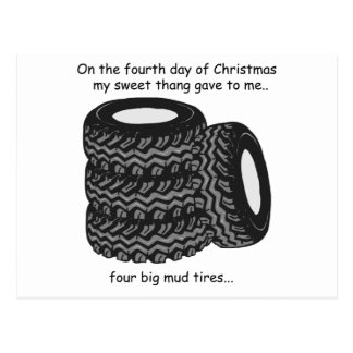 Fourth Day Redneck Christmas Postcard