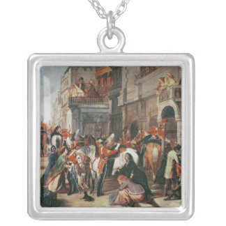 Fourth Dragoon Guards leaving Square Pendant Necklace