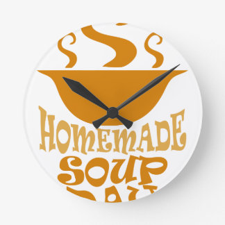 Fourth February - Homemade Soup Day Round Clock
