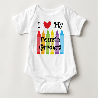 Fourth grade teacher baby bodysuit