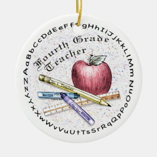 Fourth Grade Teacher Ceramic Ornament
