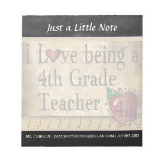 Fourth Grade Teacher | Vintage Style Notepad