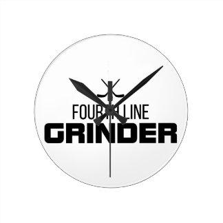 Fourth Line Grinder Round Clock