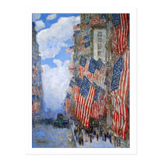 Fourth of July, 1916 by Childe Hassam Postcard