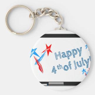 Fourth-of-July #2 Key Ring