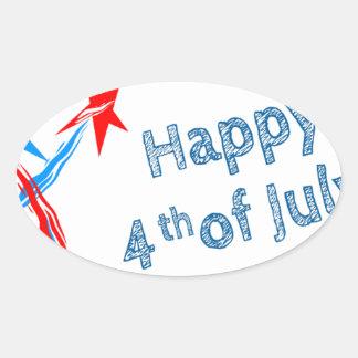Fourth-of-July #2 Oval Sticker