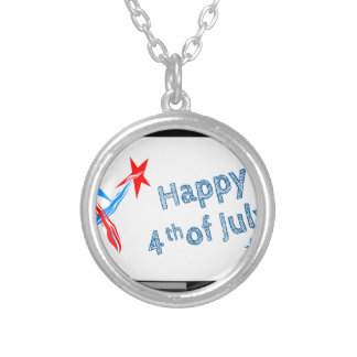 Fourth-of-July #2 Silver Plated Necklace
