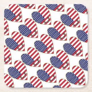 Fourth Of July 4th Square Paper Coaster
