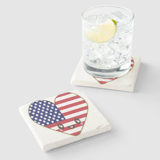 Fourth Of July 4th Stone Coaster