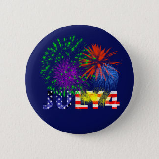 Fourth Of July 6 Cm Round Badge