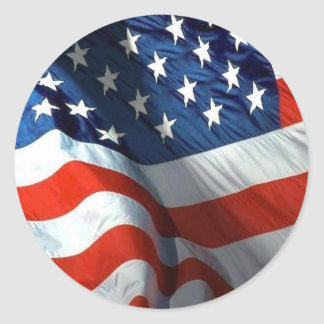 fourth of july and memorial day classic round sticker