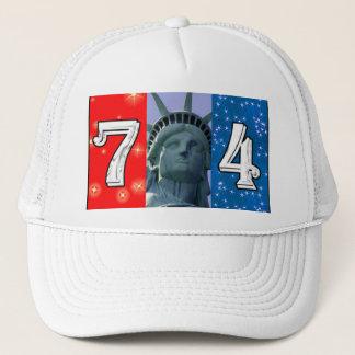 Fourth Of July Art Trucker Hat