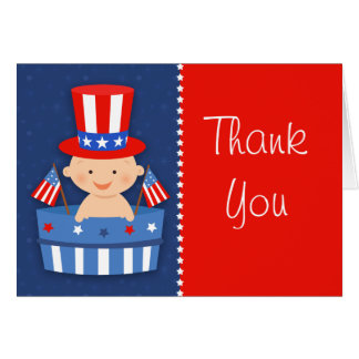 Fourth of July Baby Thank You Card