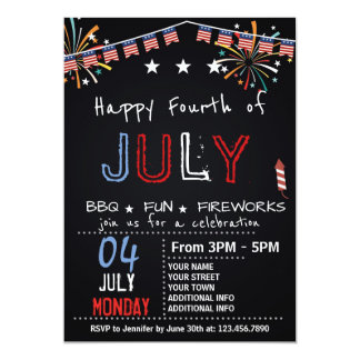FOURTH OF JULY BARBECUE PARTY INVITATION