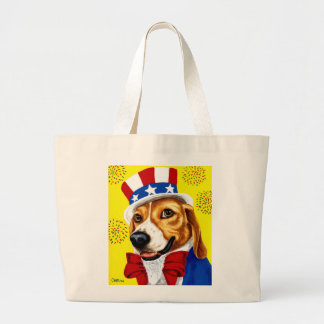 Fourth of July Beagle Dog Tote