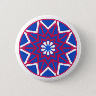 Fourth of July Button! Show your pride! 6 Cm Round Badge